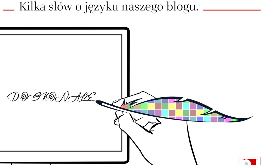 Kilka słów o języku naszego blogu